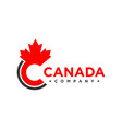 canada logo letter c vector image