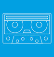 cassette tape icon outline style vector image vector image