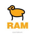 color stylized drawing of ram vector image vector image