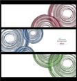 Colorful abstract technology banner collection vector image