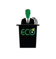 eco orator color vector image vector image
