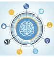 education concept - brain and science icons vector image vector image