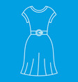 female dress with belt icon outline style vector image