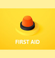 first aid isometric icon isolated on color vector image vector image