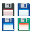 floppy disc vector image