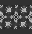 floral black and white background texture vector image vector image