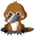 Fun zoo Platypus vector image vector image