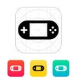 Gamepad screen icon vector image vector image