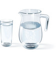 glass of water and glass jug vector image