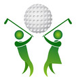 golf logo design vector image