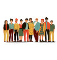 group diverse people office employee team of vector image