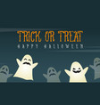 halloween background card with funny ghost vector image vector image