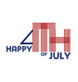 happy 4th july beautiful lettering vector image
