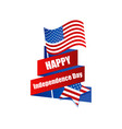 happy independence day 4th july festive banner vector image vector image
