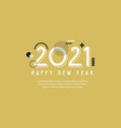 happy new year- 2021 banner for new year social vector image vector image