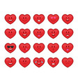 hearts emoji set vector image