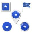 high detailed flag somalia vector image vector image