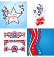 july fourth set vector image vector image