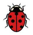 ladybug logo symbol icon with seven black spots vector image vector image