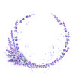Lavender flowers purple watercolor round frame