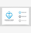 logo based love symbol icon abstract graphic