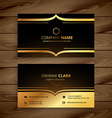 luxury business card vector image vector image