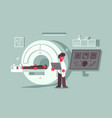 magnetic resonance imaging procedure at hospital vector image vector image