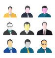 man avatar icon set collection man avatar set ma vector image vector image