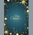 merry christmas background with christmas element vector image vector image