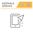 mobile navigation editable stroke line icon vector image vector image