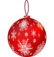 new year s red ball vector image vector image
