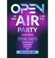 Open Air Party template design Open Air poster vector image vector image