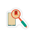 paper sticker on white background Mobile phone vector image vector image