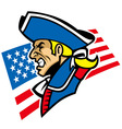 patriot mascot vector image