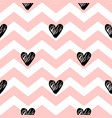 pink lines and black hearts vector image