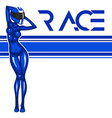 rally race banner with girl vector image