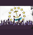 rhode island state flag with audience vector image vector image