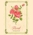 rose floral background vector image vector image