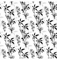 seamless pattern of black palm trees vector image vector image
