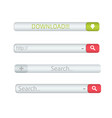 search bar isolated on white background vector image vector image