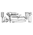 Set of hairdressers tools vector image vector image
