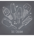 Set of hand drawn different ice cream Food design vector image vector image