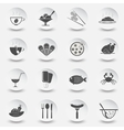 set of icons for theme eating vector image vector image
