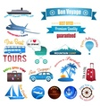 Set of labels badges and stickers on travel vector image vector image