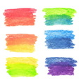 set rainbow watercolor banners vector image