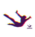 silhouette of a jumping man design template vector image