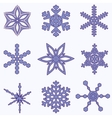 Simply Snowflake Set vector image vector image