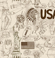 Sketch USA seamless pattern vector image