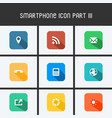 smartphone icon part iii vector image vector image