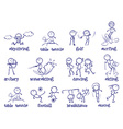 Spports doodle set on white vector image